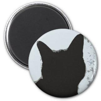 Silhouette Cat 6 Cm Round Magnet