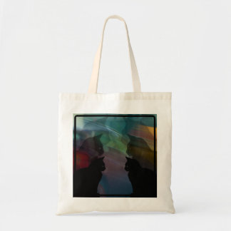 Silhouette Cats Budget Tote Bag