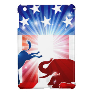 Silhouette Donkey Fighting Elephant Cover For The iPad Mini