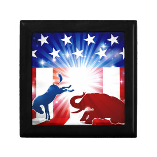 Silhouette Donkey Fighting Elephant Gift Box
