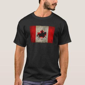 Silhouette Dressage Horse Canada Flag Shirt
