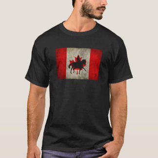 Silhouette Dressage Horse Canadian Flag Shirt