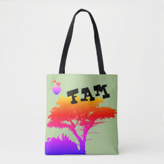 Silhouette Family Great Tree Vintage FAMILY TREE Tote Bag