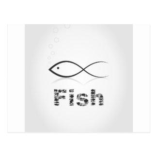 Silhouette fish2 postcard