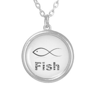 Silhouette fish2 silver plated necklace