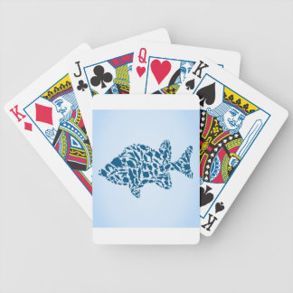 Silhouette fish bicycle playing cards