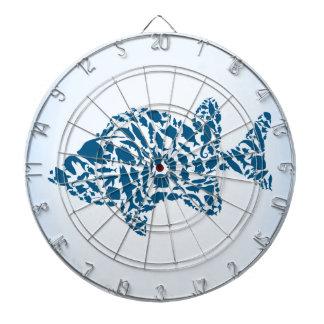 Silhouette fish dartboard