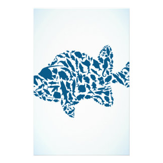 Silhouette fish stationery