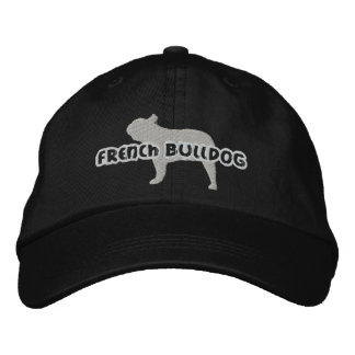 Silhouette French Bulldog Embroidered Hat