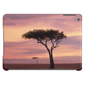 Silhouette image of acacia tree at sunrise iPad air covers