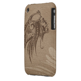 Silhouette Indian Chief Brown iPhone 3G-3GS iPhone 3 Covers