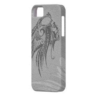 Silhouette Indian Chief Silver Gray iPhone 5 Cover