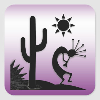 Silhouette Kokopelli Square Sticker