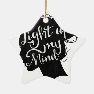 Silhouette - light up my mind ceramic star decoration