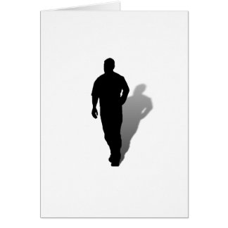 Silhouette Man Standing Alone Card