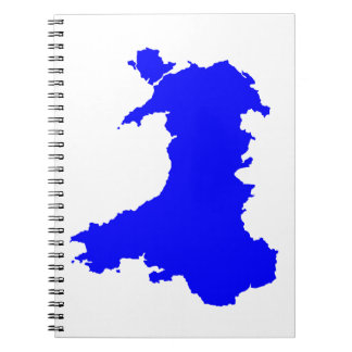Silhouette Map Of Wales Notebook