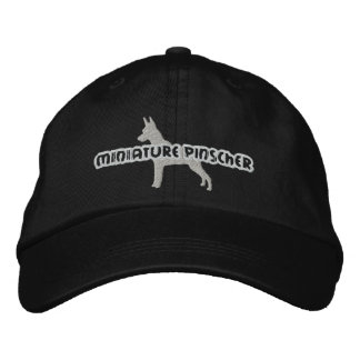 Silhouette Miniature Pinscher Embroidered Hat