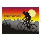 Silhouette Mountain Bike Happy Birthday Card
