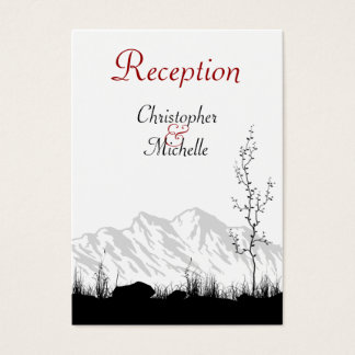 Silhouette Mountain Wedding Reception Cards