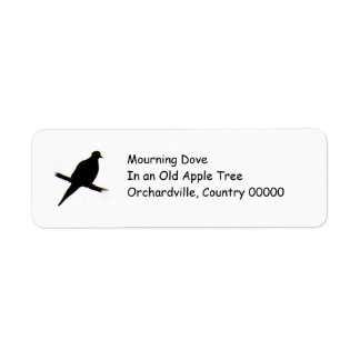 silhouette Mourning Dove Return Address Label