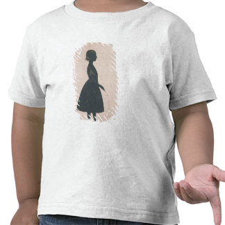 Silhouette of a girl with a skipping rope shirts