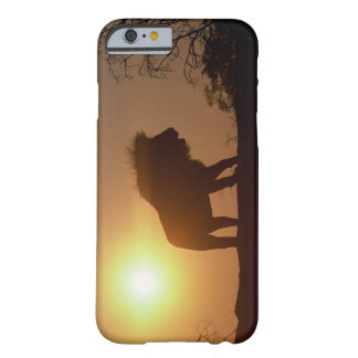 Silhouette of a lion barely there iPhone 6 case