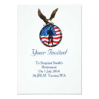 Silhouette of a lone Soldier retirement Card