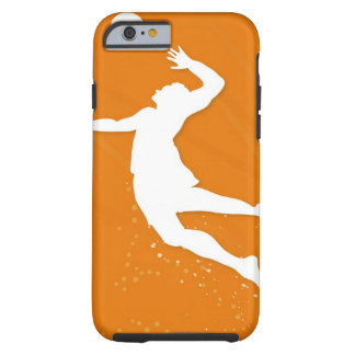 Silhouette of a man playing volleyball tough iPhone 6 case