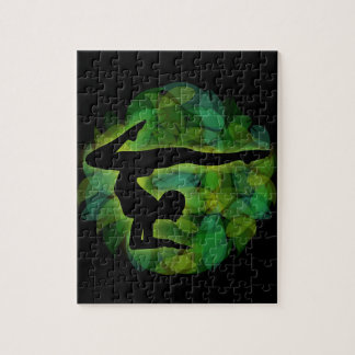 Silhouette of a person doing gymnastics or yoga jigsaw puzzle