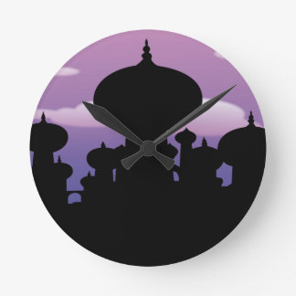 Silhouette of a temple wall clock