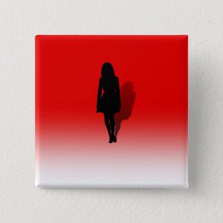 Silhouette of a Woman 15 Cm Square Badge