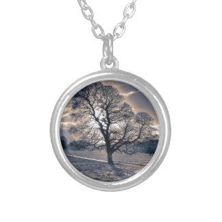 Silhouette of an old Oak tree Necklace