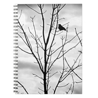 SILHOUETTE OF *BIRD IN A TREE* SPIRAL NOTEBOOK