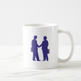 Silhouette of businessmen business men coffee mug