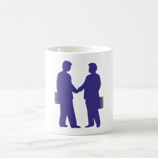 Silhouette of businessmen business men mugs