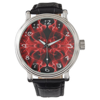 Silhouette of Colored Smoke Abstract red black Watch