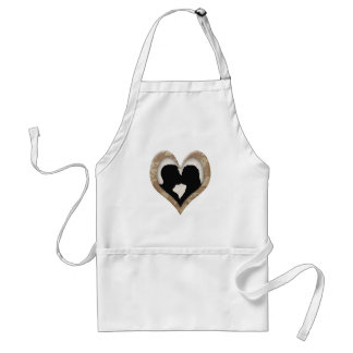 Silhouette of Couple Kissing (Camouflage Heart) Adult Apron