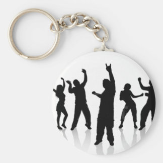 Silhouette of dance key ring