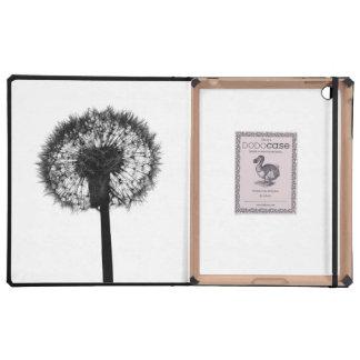 Silhouette of dandelion iPad folio cases
