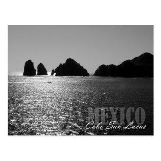 Silhouette of El Arco de Cabo San Lucas Postcard