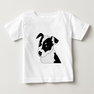 Silhouette of funny playful little puppy DOG Baby T-Shirt