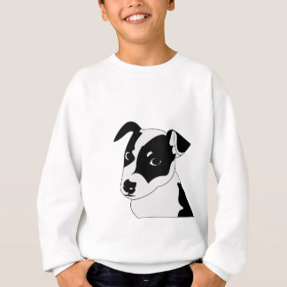 Silhouette of funny playful little puppy DOG Sweatshirt