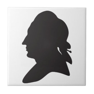 silhouette of Goethe Small Square Tile
