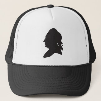 silhouette of Goethe Trucker Hat