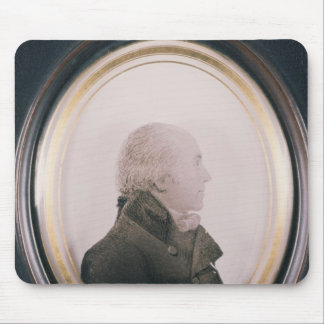Silhouette of Major Lewis Painted on Convex Mouse Pad
