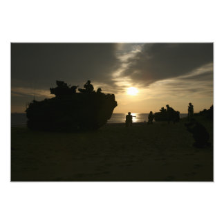 Silhouette of Marines Photograph