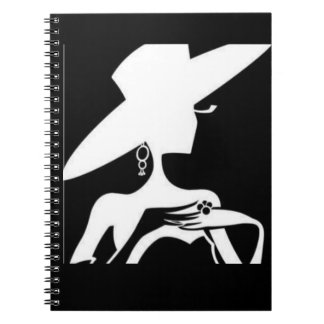 *SILHOUETTE OF PRETYY WOMAN* SPIRAL NOTEBOOK