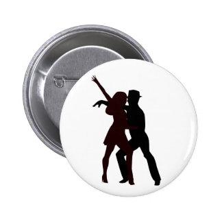 Silhouette of Salsa Dancers 6 Cm Round Badge