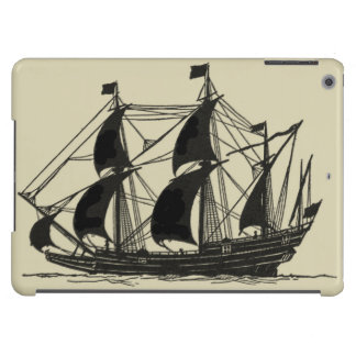 Silhouette of Ship with Billowing Sails Case For iPad Air