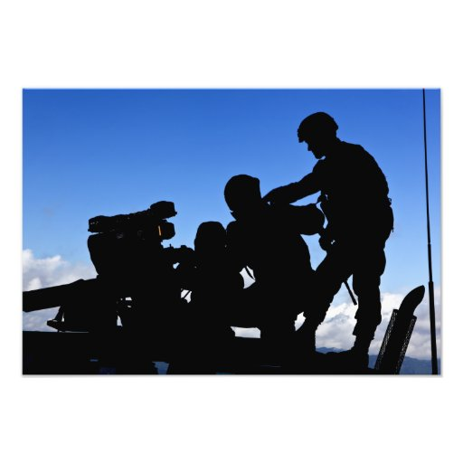 Silhouette of soldiers photograph